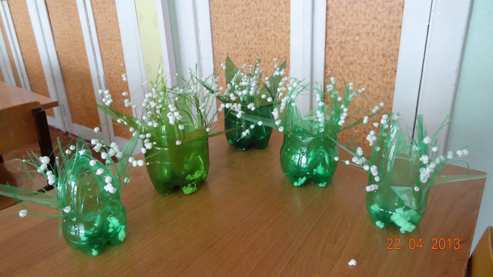 Декоративные напольные вазы из бросового материала своими 34